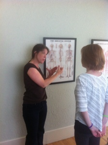 After, the first visit showing me the human bone anatomy.